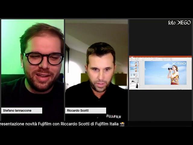 Live con Riccardo Scotti di Fujifilm Italia per parlare della X-S10