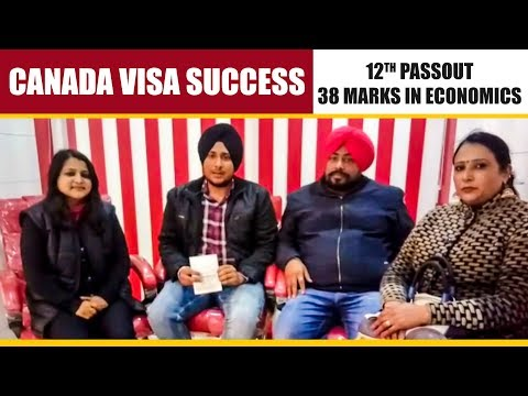 Canada Visa - 12th with 38 Marks in Economics