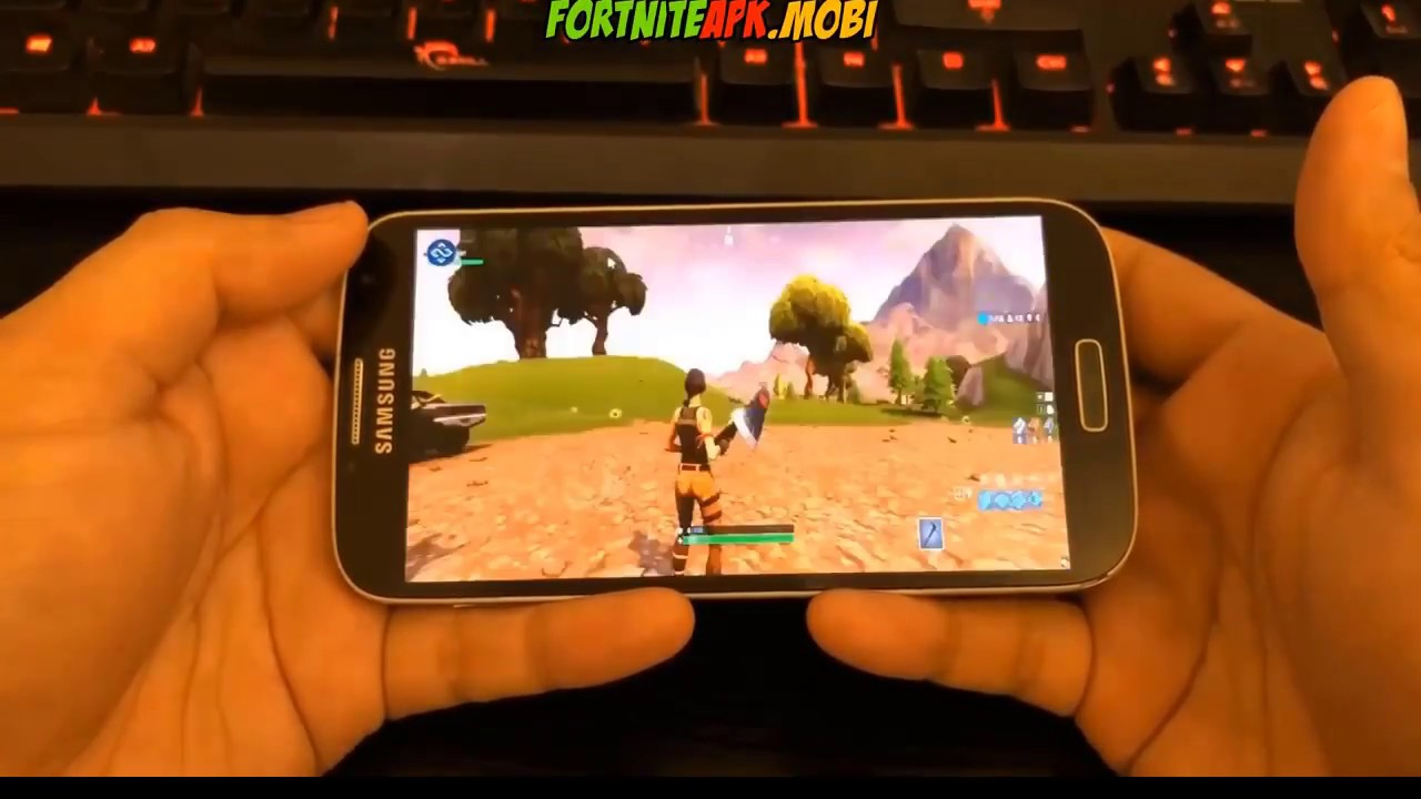 fortnite download size android