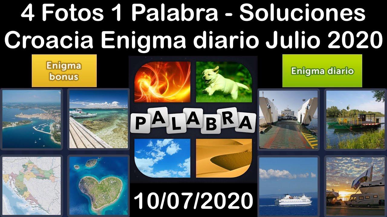 4 Fotos 1 Palabra - Croacia - 10/07/2020 - Julio 2020 - Enigma diario + Enigma bonus - Solucion