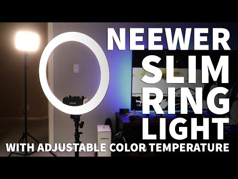 Neewer Ring Light 18 Inch – Slim Dimmable Ring Light With Stand And Adjustable Color Temperature