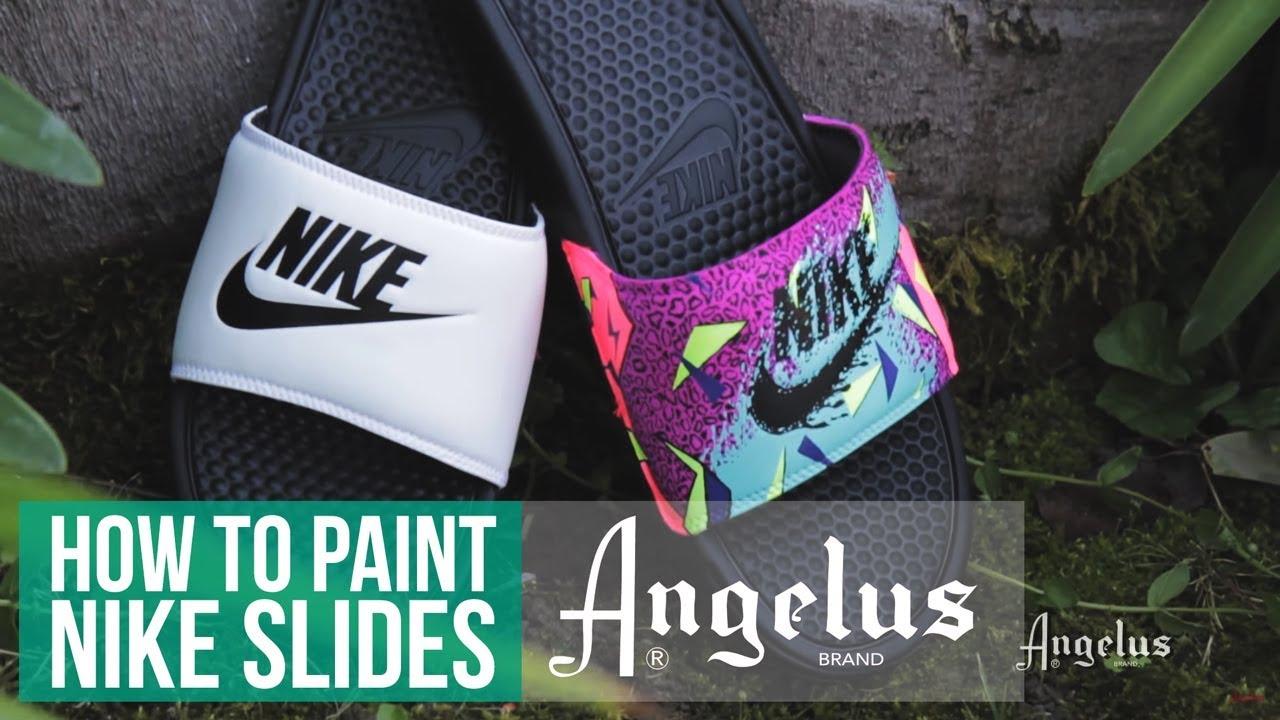 free shipping 0bb49 bff2b Summer Slides   How To Custom Slides With Angelus Paint. Angelus Shoe Polish