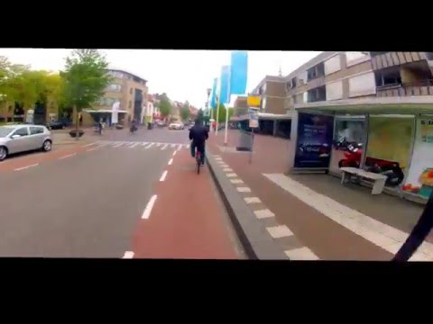 Cycling in Eindhoven, Netherlands.