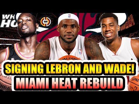 SIGNING LEBRON JAMES AND DWYANE WADE?! MIAMI HEAT REBUILD! NBA 2K18 MY LEAGUE