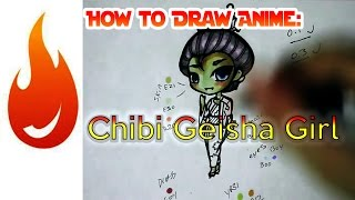 How to Draw a Chibi Geisha Anime Manga Girl Character Tutorial