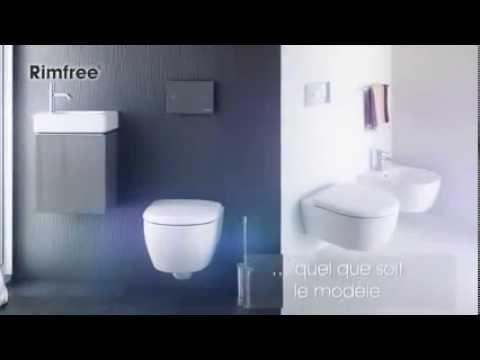 pr sentation de la cuvette wc allia selles rimfree youtube. Black Bedroom Furniture Sets. Home Design Ideas