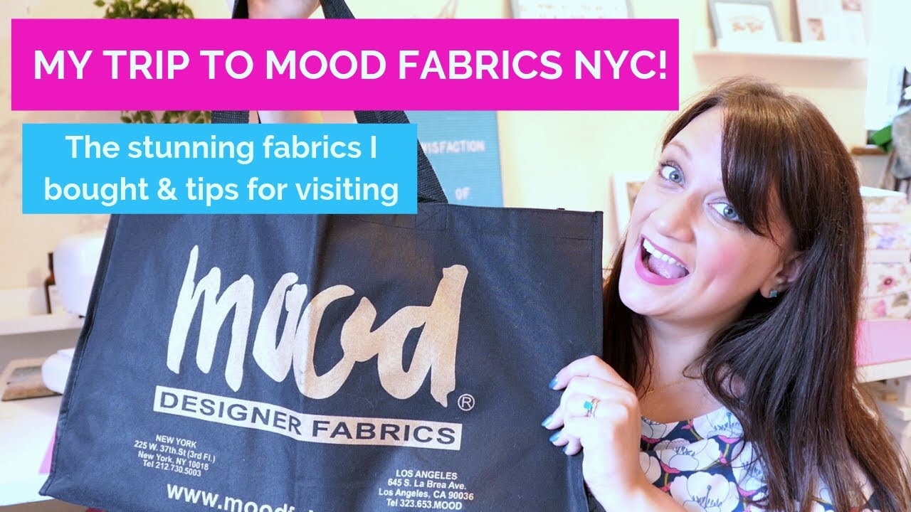 My Trip To Mood Fabrics In New York Fabric Haul Tips For Your Trip Youtube