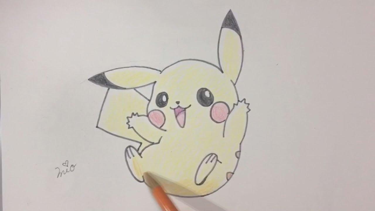 【ポケモン】ピカチュウの描き方(*´꒳`*)