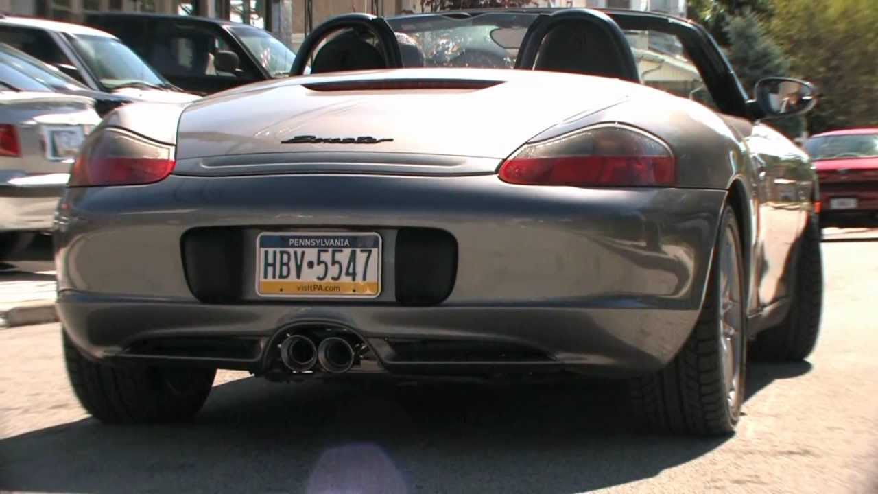 porsche 986 boxster with fabspeed maxflo exhaust system