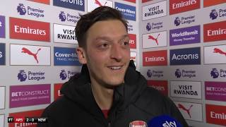 'We're happy to be ahead of Tottenham!' - Mesut Ozil reacts to Arsenal moving into 3rd after 2-0 win