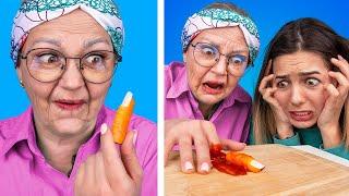 12 смешных пранков бабули Бабушка пранкует внучек