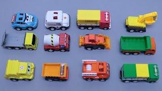 เรียนรู้ชื่อรถก่อสร้าง รถแม็คโคร รถดั้ม รถตักดิน รถตำรวจ  Learning Street Vehicles Names For Kids