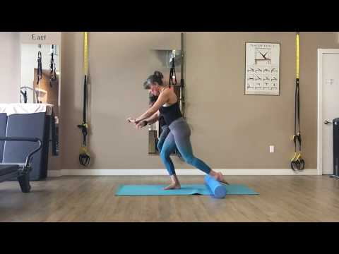 Athletic Foam Roller Mat Pilates Combo with Trainer Fiona Hermanutz
