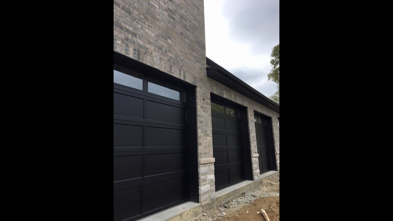 3 Hormann 5252 9x9u0027s Recessed Panel Black Garage Doors |630 271 9343