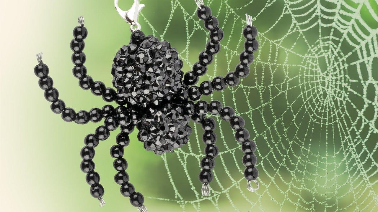Ideen Mit Herz Perlen Spinne Basteln Diy Schmuck Halloween Deko Selber Machen Pearl Spider