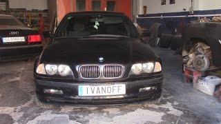 Ремонт автомобиля BMW 330D   E46, замена электро вентилятора конденсера, демонтаж бампера