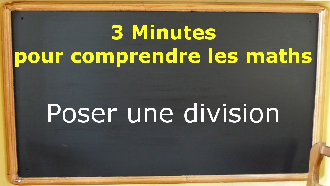 Comment poser une division la main youtube for Comment poser une plinthe