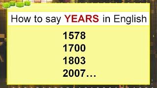 Как прочитать год (дату) на английском языке