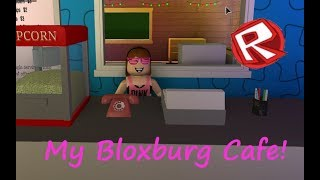 My Cool BLOXBURG Cafe In ROBLOX