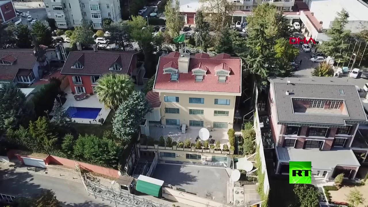 التلفزيون التركي ينشر فيديو يظهر القنصلية التركية باسطنبول من الجو