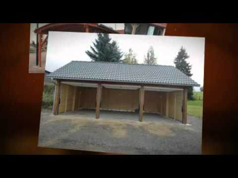 carports aus holz youtube. Black Bedroom Furniture Sets. Home Design Ideas