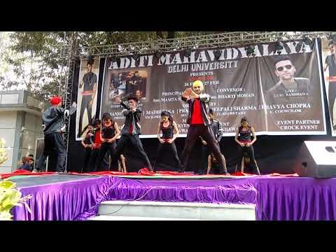 outstanding Dance performance in Aditi mahavidyalaya Du college event on 26 feb 2016
