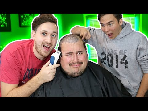 HE LOST A BET!! (SHAVED BALD) 😱