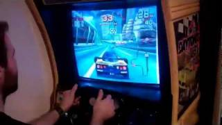 Sega Arcade Racing Emulator Cabinet + Real Daytona Force Feedback Motor!!