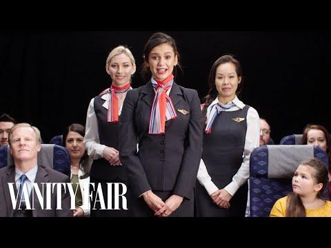 Nina Dobrev Creates an In-Flight Safety Video | Vanity Fair