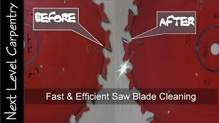 Fast and Efficient Saw Blade Cleaning