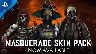 Mortal Kombat 11 | Masquerade Skin Pack Reveal Trailer | PS4