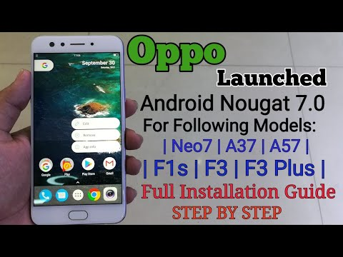 Android Update for Oppo A37, Oppo A57, Oppo F3, Oppo F3 plus and Oppo f1s