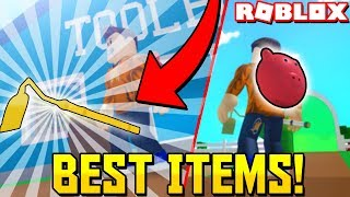 *OVERPOWERED* Buying The Infinite Backpack + Golden Hoe in Farming Simulator! (Roblox)