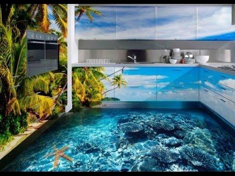 3D Boden Designs Bodenbeschichtungen mit 3D-Bilder - YouTube - 3d badezimmerboden