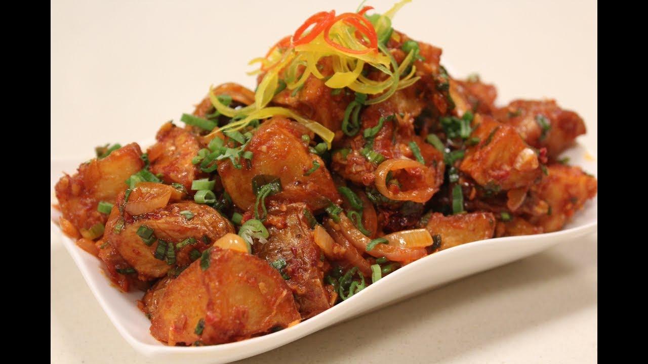Sichuan chilli potatoes finger food recipes sanjeev kapoor sichuan chilli potatoes finger food recipes sanjeev kapoor khazana forumfinder Images