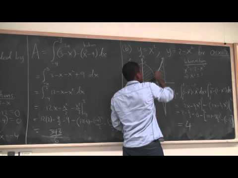 Math 202 Lecture 18 - Areas between curves conclusion and the disk method