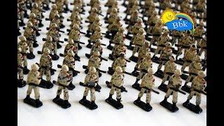 Домашние сражения игрушек ↑ Военные солдатики,  нёрфы, фонари, ночное сражение ↑ Обзор игрушек