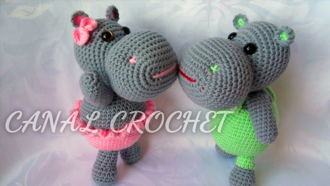 Amigurumi Tutorial Espanol : hipopotamo amigurumi tutorial - YouTube
