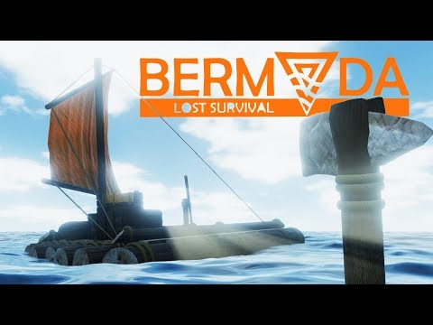 SURVIVNG on FISH and Building a LIFE RAFT ! - Bermuda - Lost Survival Game