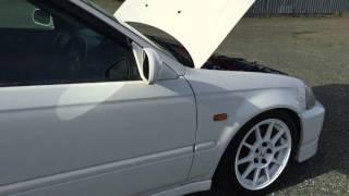 Інтер'єр 1998 Хонда Сівік тип R Люк, B16B DOHC з в-ТИК, 200л. з, 5 ступінчаста МКПП, Червоний Recaro тип Р