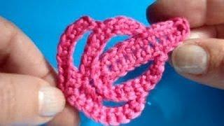 Вязание крючком - Урок 203 - Как вязать листик - crochet leaf