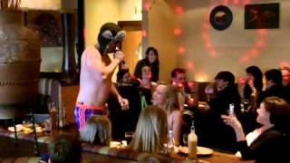 Discoboy disco boy hits Nandos #cheeky #nandos