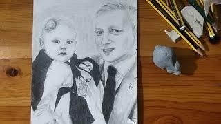 Speed Drawing / Encargo para un cumple: Padre e hija
