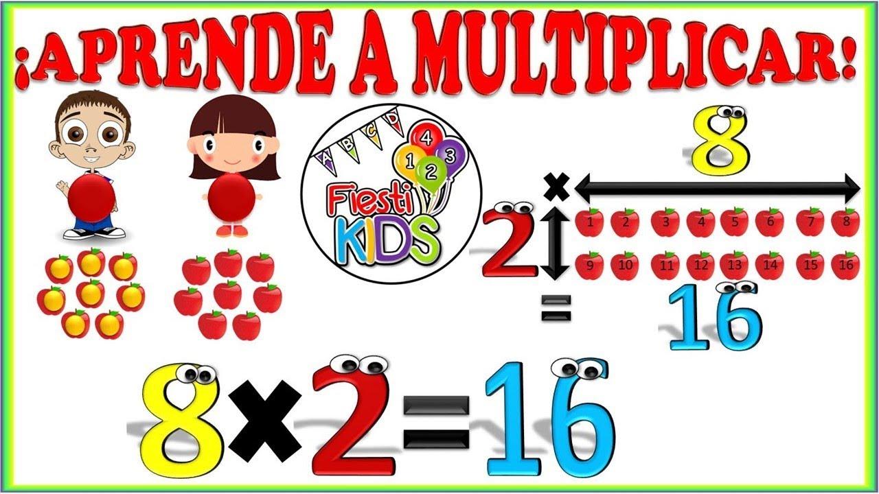 La Multiplicación Para Niños Explicación Y Ejemplos Sencillos Multiplication For Kids Youtube