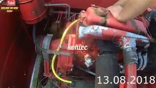 Naprawa kombajnu MF307 po pożarze instalacji silnika 2018