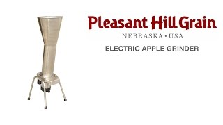 Electric Apple Grinder Demonstration