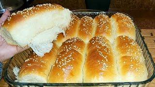 #شيماء_رسلان#وصفة_وطبخة خبز الحليب بعجينة هشة مثل القطن صحى ومفيد للأطفال