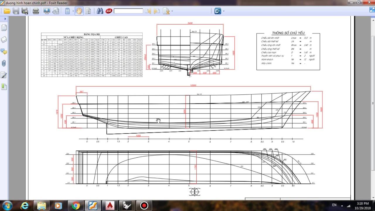 Hướng dẫn tạo bản vẽ đường hình tàu thủy bằng phần mềm Rhino