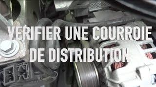 Vérifier la courroie de distribution d'une voiture