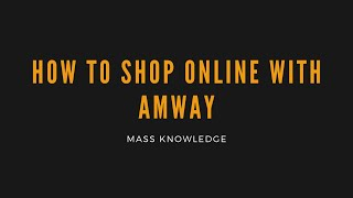 How to shop online amway malaysia